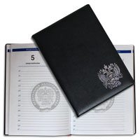 Production of diaries to order with a logo and individual design