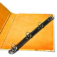 cardboard cover menu folder with ring clip