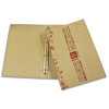 cardboard cover folder with ring mechanism for restaurant menu