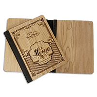Production of wooden menu covers for restaurants, bars, cafes and clubs