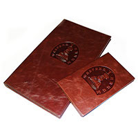 Plates for embossing - Cliches for stamping on folders made of leather, leatherette and eco-leather