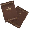 Burmat menu cover brown leatherette with elastic band