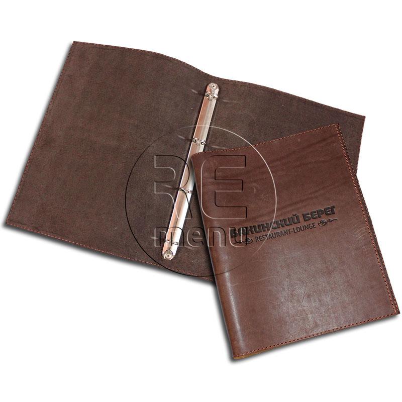 Папки из кожи: кожаные папки для меню с логотипом на кольцах Remenu